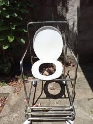 Cadeira de banho obeso em aço inox
