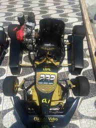 Kart, kart semi profissional, todo reformando, motor, pintura, só abastecer e andar