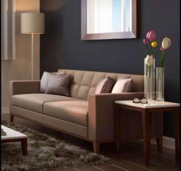 Sofa retro 3 lugares cinza