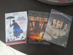03 DVDs duplos originais. Todos por 15.