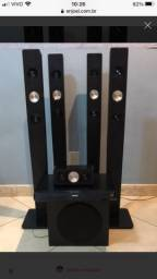 Home theater Philips 5x1 (6 caixas)