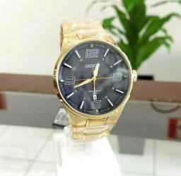 Relógio Orient Original Novo Banhado a Ouro Alta Qualidade