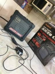 Caixa com amplificador