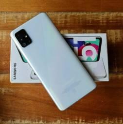 Samsung A51 128gb completo nota fiscal garantia aceito cel inferior/pagto cartão