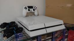 Playstation 4 Fat 500GB Branco + Call of Duty / Troco / Parcelo