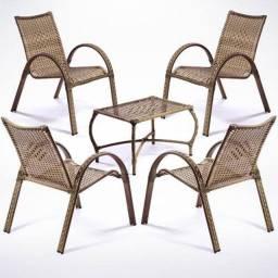 Conjunto 4 cadeiras 1 mesa