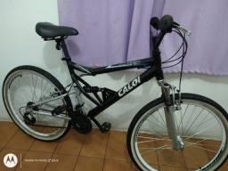 Bicicleta aro 26 Caloi KS de Alumínio 21 marchas Folha aero cubo roletado