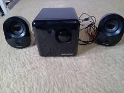 2 caixas de som semi nova, 1 inova, e uma Multilaser