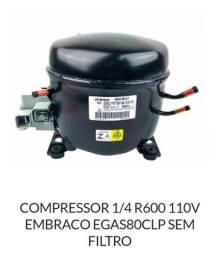 Compressor 1/4 Embraco egas80clp 127v sem filtro