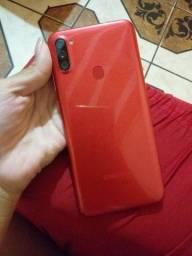 Samsung A11 vermelho