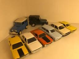 Kit miniaturas carros brasileiros
