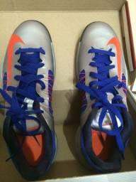 Tênis Nike Lunarlon Hyperdunk cinza e azul tam. 42 importado novo
