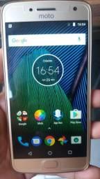Moto G5 4G Plus 32giga Gold semi novo 2chip
