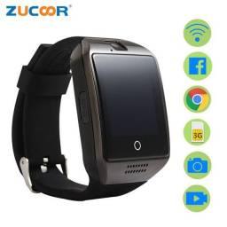 Relógio Smartwath Q18, câmera, GSM, cartão, Blutooth, alerme