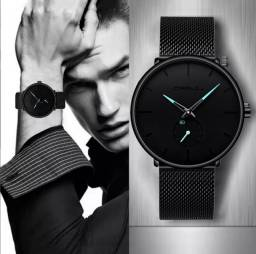 Relógio de Pulso Masculino CRRJU Importado Original Novo Pronta Entregau