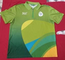 Camisa voluntário da olimpíada do Rio 2016 verde