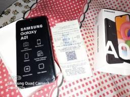 Samsung Galaxy A01 novo com nota AC of e cartão