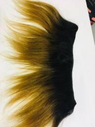 Cabelo loiro humano brasileiro extensão 0,24 cm de comprimento
