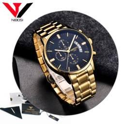 Relógio Nibosi 2309 Original de Luxo / Barato
