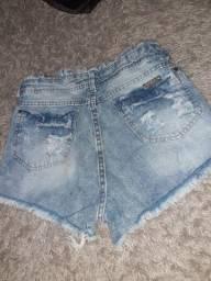 Short jeans azul claro