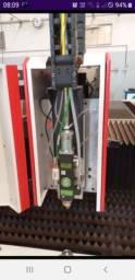 Maquina de corte a laser para metais fibra optica