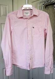 Camisa masculina Abercrombie - Original (Tamanho M) slim