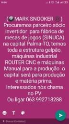 Sócio parceiro investidor Para fábrica de sinuca
