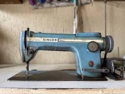 Máquina de costura reta industrial Singer