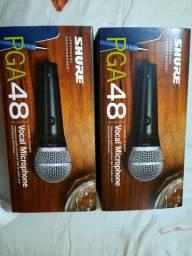 Microfones  Shure  2 novos e 1 usado!