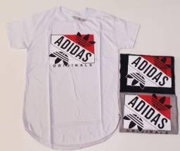 Kits 12 Camisetas Longline Masculina