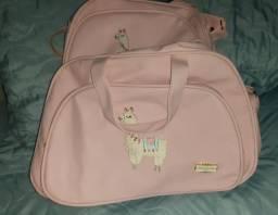 Conjunto de bolsa maternidade da linha ilhama da marca pirulitando
