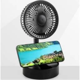Mini Ventilador Telescópico Dobrável Usb Recarregável 3 Velocidades