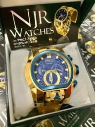 Relógio Invicta magnum botoes azul novo