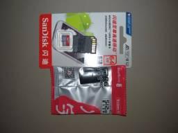 Cartão de memória SanDisk 64 GB (Com adaptador USB)