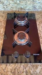 Fogão cooktop a gás Sugar 2 bocas preto  63.5cm x 56cm