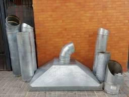 Coifa industrial zinco