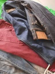 4 calças de marca por 150