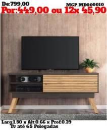 Rack pra televisão até 65 Polegada ou Estante de Televisão até 65 Polegada - Embalada