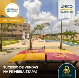 Reserva Jacaranda, 3 Qtos/01 Suíte 53 m²-Documentação Grátis - Casa Verde e Amarela