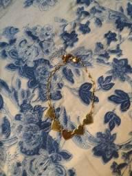 Vendo pulseira de coração folheada a ouro