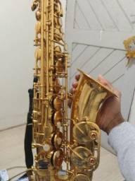 Sax Winner conservado + boquilha Yamaha 4c e palheta Plasticover