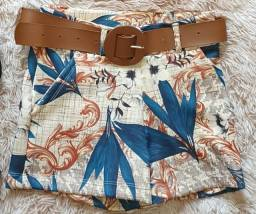 Shorts Tropical com cinto