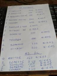 Lote com 33 HDS com defeito