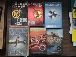 Livros em Inglês - Game of Thrones e Hunger Games