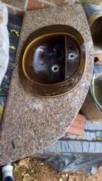 Pia de mármore para banheiro e vaso igual ao trampo
