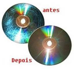 Polimento e restauração de CD e DVD