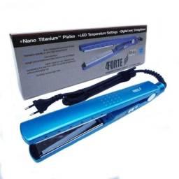 Chapinha 4 Forte Nano Titaniu 450°F Azul Profissional Bivolt