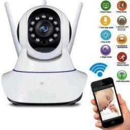 Camera Robo 3 Antenas Ip Wifi HD360º com audio e visão noturna