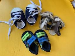 Tênis e sandália para bebe tamanhos 14,15 e 16