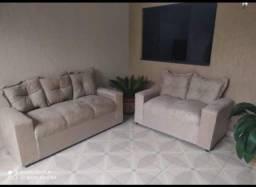 sofá 2 e 3 lugares promoção direto da fabrica